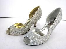 Peep Toe Slim Heel Synthetic Shoes for Women