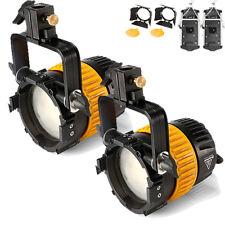 2 xportable High CRI Bi-Color 80 W LED Riflettore di Fresnel per Video Fotocamera Studio L