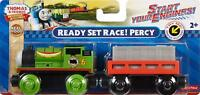 THOMAS & FRIENDS (WOODEN RAILWAY) READY SET RACE PERCY AGE 2+ FISHER PRICE NEW