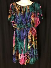ANGIE Women's  Short Dress Sleeveless Tunic Size L Multicolored With Pockets