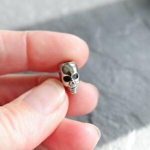 Dreadlock / Beard / Braid Bead Mini Skull Stainless Steel 4.8mm hole.