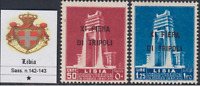 Italy Libia - Tripoli Fair 11^ Sassone n.142+143b - cv 125$  MH* Variety Decalco