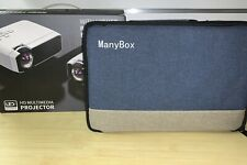 ManyBox Mini Projector, 3500 LUX Portable Video Projector