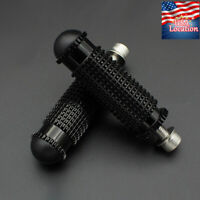 RearSet Footrests Footpegs Foot Pegs US For Universal Motorcycle Aluminum Black