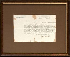 Ferdinand Sauerbruch: Maschinenschriftlicher Brief mit Unterschrift. (1921).