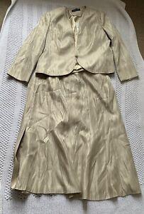 Jacques Vert Suit Skirt Jacket BNWT RRP £238 Size 20 Biscuit
