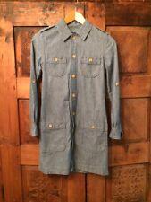 APC Sz XS Chambray Shirt Dress Pockets EUC