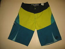 #7938 TIME TO SURF! BILLABONG PLATINUM X BOARD SHORTS BOYS MEN'S 27 PRE OWNED