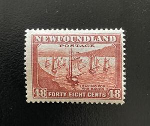 1938 Newfoundland Canada Scott #266 48c Stamp  Fishing Fleet  MNH