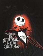 The Nightmare Before Christmas Jack Skeleton Large T Shirt Tim Burton Disney Nbx
