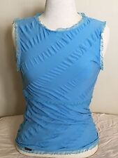 Wolford + Lagerfeld Gallery Top Sleeveless Color: Blue Size: Medium 00009 - 22