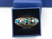 SWAROVSKI CYAN RING (SIZE55/MEDIUM) MIB #5115538