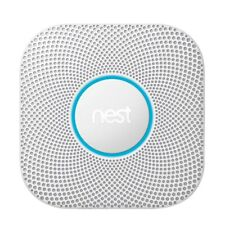 Google Nest Protect S3003LWES Wired Smoke, Carbon Monoxide Alarm , 2nd Gen White