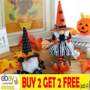 Halloween Faceless Gnome Gonks Doll Plush Ornaments Swedish Tomte Elf Decor nl