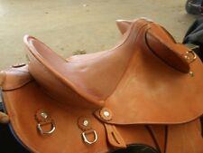 stock fender trail riding saddle women chestnut leather seat  TEXAS TEA DROVER