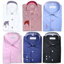 Button Cuff Machine Washable Formal Shirts for Men 3XL Chest