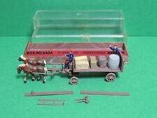 MERTEN #2424 Box HO boite figurine 20mm Attelage charette ferme chevaux
