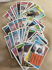 1984 Topps Football Lot Of 34 Cards