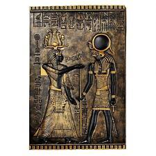 Egyptian God Horus Relief Frieze Plaque Wall Sculpture Replica Reproduction