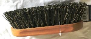 "New Shires Dandy Brush Tampico Bristles Grooming 7 7/8"" x 2 1/4"" Wood Horse Tack"