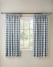 """Katie Floral Printed 3"""" Tape Top Kitchen Curtains - Four Colours Available"""