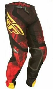 New Fly Racing Kinetic MX BMX motocross race pants mens size 30 red black yellow