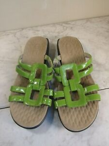 Privo by Clarks Green Man Made Square Strap Slide Sandal Shoes Women's 7 M