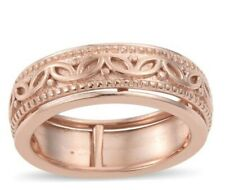 14K Rose Gold Over Sterling Silver Band Ring; Sz 5.0; ~4.5gm; NIB