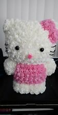 Costum 16 inch Tall Hello Kitty Made out of Foam Rose Flowers