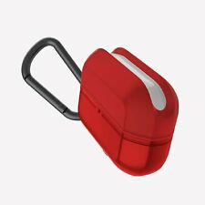 Raptic Journey Apple AirPods Pro Case Soft Silicone, Scratch Resistant, Red