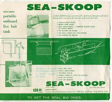 "Vintage Boat Fishing Sales Flyer: ""Sea-Skoop"" Outboard Live Bait Tank"