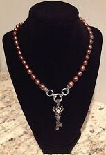 Barbara Bixby Key with Chocolate Cultured Freshwater Pearl Necklace Sterling/18K
