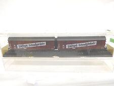 eso-9078Röwa 2037 H0 Güterwagen DR 218066/218065 mit leichte Gebrauchsspuren,