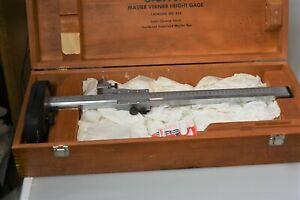 New Starrett 254EMZ-12 Master Vernier Height Gauge Wooden Case EDP 51224