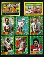 1986 SAN FRANCISCO 49ers Team Set 16 Topps Football Cards w/ #161 JERRY RICE RC