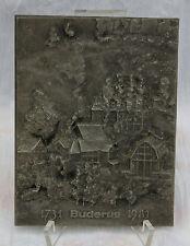 """Buderus Kunstguss - Gusseiserne Reliefplatte """" 1731 Buderus 1981 """" !!! Nr.5"""