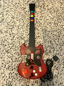 Playstation 2 Guitar Hero PS2 Gibson Red Octane Wired Controller (PSLGH) Tested