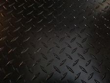 ".063 Matte Black Powdercoated Aluminum Diamond Plate Sheet 12"" x 24"""