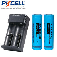 2x ICR 14500 Battery 3.7V Li-ion 800mAh AA Rechargeable Battery & smart charger
