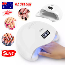 SUN5 48W LED UV Nail Lamp Lights Gel Polish Dryer Manicure Curing AU Plug
