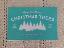 CHRISTMAS TREE FARM Chalk Couture Transfer ~ RETIRED used