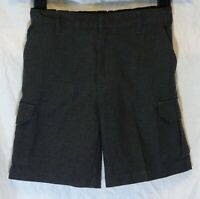 Boys TU Dark Charcoal Grey Adjustable Waist School Shorts Age 7 Years