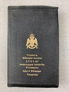 Masonic Bible  Freemasonry Williamsport Pennsylvania Holman Genuine Leather