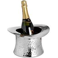 Metal Vintage Novelty Top Hat Ice Bucket Champagne Wine Cooler 15 x 28 x 28cm UK