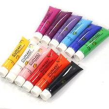 12 Color Acrylic Paint Nail Art 3D 12ml Painting Pigment Design Tips Tube Set