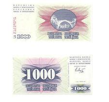BOSNIA 6 PC UNCIRCULATED BANKNOTE SET, 10 - 1000 DINARA