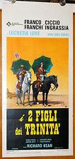 locandina originale I DUE FIGLI DEI TRINITA Franco Franchi Ciccio Ingrassia 1972