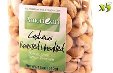 60oz Gourmet Style Bags of Roasted Unsalted Jumbo Whole Cashews [3 3/4 lbs.]