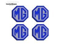MGF LE500 MG TF ZS ZR ZT Alloy Wheel Cap Centre Logo Badges Blue & Silver (45mm)