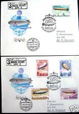 Russia Zeppelins set-2 FDC Registered letters 5 stamps